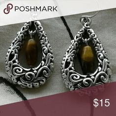 Handmade tierra cast dangle earrings. New handmade silver ornate dangles. Jewelry Earrings