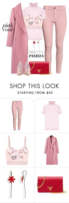 """""""Hey, Girl: Pretty Pink Coats"""" by yinggao ❤ liked on Polyvore featuring H&M, Shrimps, STELLA McCARTNEY, Prada, Dolce&Gabbana, pastels, winterstyle and pinkcoats"""