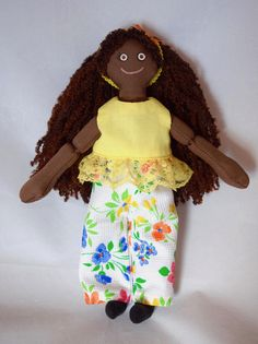 Black Doll  Girl Doll  Handmade Kids Toy