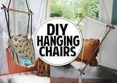 You can make a hanging chair!