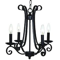 Harp Black Four Light Mini Chandelier Jubilee Collection Candles Without Shades Chandelier