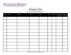 Wedding guest list organizer!