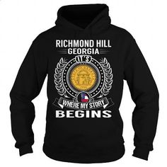 Richmond Hill, Georgia Its Where My Story Begins - #mens hoodies #design shirts. SIMILAR ITEMS => https://www.sunfrog.com/States/Richmond-Hill-Georgia-Its-Where-My-Story-Begins-Black-Hoodie.html?60505