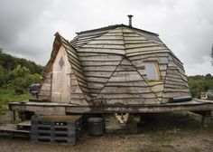 Geodesic dome nearPlounéour-Ménez, Brittany, France. Contributed byOlivier Duval   Tiny Homes