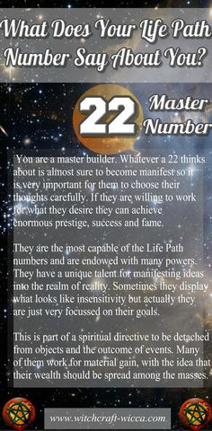 Life Path Number 22 - and fruitful Builder. You can be very ambitious. You'll do whatever it takes to get what you want. Giving up is not an option for you. You won't stop unless you reach that goal. Path Of Life, Life Path Number, Numerology Numbers, Numerology Chart, Life Challenge, What Is Birthday, Numerology Compatibility, Compatibility Chart, Astrology Numerology