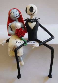 Nightmare  Wedding Cake Topper by ThatTopperStore on Etsy, $120.00