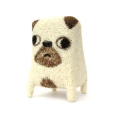 Ralph  Handmade Pug Sculpture  Needle Felted Soft by Poopycakes, £30.00