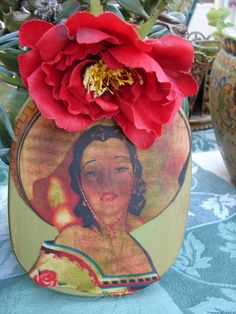 Charra Cowgirl Glamper Wall Art Upcycled by NopalitoVintageMore, $45.00