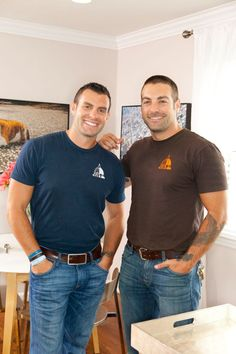 A pair of blue collar Hotties!!   Kitchen Cousins Anthony Carrino & John Colaneri