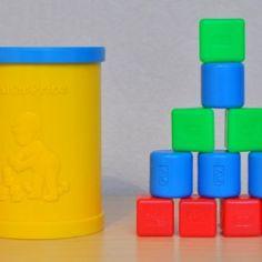 Cubes à encastrer - Edité en 1977  - Pauline et paulette la boutique vintage : www.paulineetpaulette.Fr