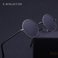 4454a2f24027aa R.BCOLLECTION Steampunk Round Sunglasses Men Women Anti-UV Polarized Metal  Frame Retro Sun Glasses Mirror gafas de sol 801