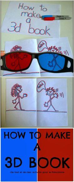Disegnare,costruire libri è sempre divertente ma che ne dite di farlo in 3D? Buon divertimento!!! http://de-tout-et-de-rien-caroli...