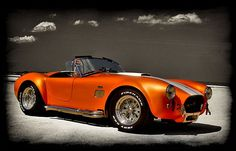 Shelby Cobra orange w/white stripes