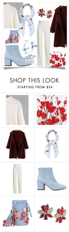 """Scarlet"" by itsimplydev ❤ liked on Polyvore featuring Givenchy, Brandon Maxwell, Stuart Weitzman, Marina Hoermanseder and Anne Klein"