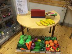 Rahalaskuja kauppaleikin muodossa (Alkuopettajat FB -sivustosta / Heli Veijola) Maths, Vegetables, Vegetable Recipes, Veggies
