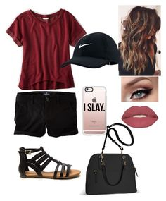 """""""Untitled #27"""" by mae1143 on Polyvore featuring American Eagle Outfitters, Avenue, Casetify, NIKE and Smashbox"""