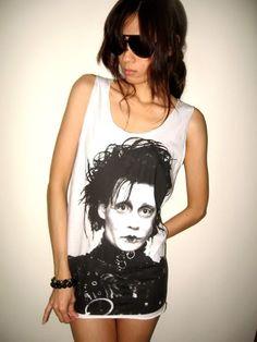 Johnny Depp Edward Scissorhands Movie Tank Top T Shirt