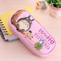 Cartoon Cat Totoro Makeup Cosmetic Brush Pouch Pocket Pen Pencil Case Bag Gift