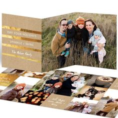 Pear Tree Christmas cards are designed to stand out from the rest! Personalize the Golden Greeting Trifold Christmas Cards with your choice of text, color, and fonts. Design your perfect card today.