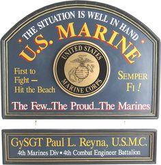 Northwest Gifts - U.S. Marine Sign Personalized, $99.95 Military Gift Ideas (http://northwestgifts.com/u-s-marine-sign-personalized/)