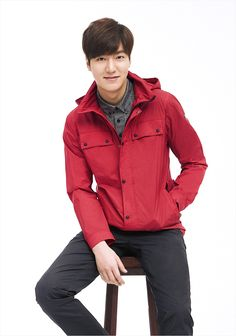 I like the red jacket w/ the dark pants. EIDER S/S 2015 Ad Campaign Feat. Lee Min Ho | Couch Kimchi