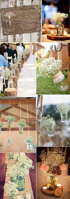 rutisc babybreath and mason jar inspired wedding ideas