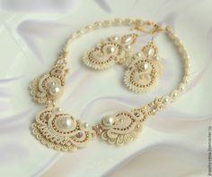 Купить Свадебный комплект. - айвори, свадебное украшение, свадебные аксессуары, свадьба, свадебный комплект