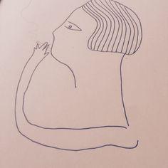 Dibujando y fumando…  #chicamancha #illustration #dessin