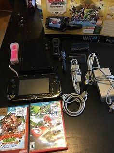 Nintendo Wii U The Legend of Zelda: The Wind Waker HD Deluxe Set 32GB Black Han…