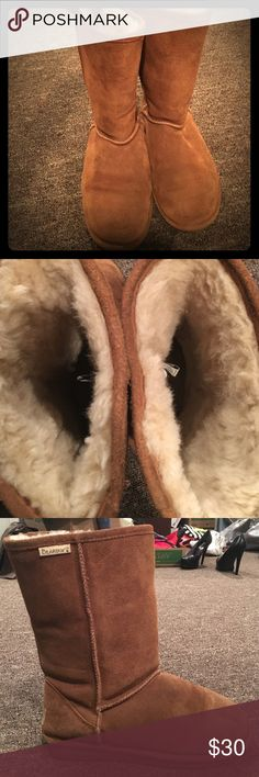 BearPaw fuzzy warm boots These boots ARE used but as you can tell by the photos - still in great condition!!! No flaws to report. BearPaw Shoes Winter & Rain Boots