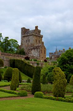 Drummond Castle Gardens near Crieff Scotland, June 2013, sadly wasn't the best of days when I took this shot, will re visit soon hopefully the weather will be a little more obedient