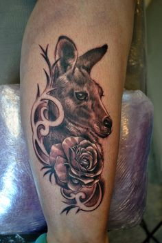 Kangaroo tattoo by gettattoo
