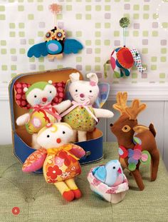 Stitched Whimsy by Heidi Boyd. What little girl wouldn't want these dolls?