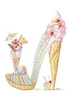 Lazy Sundae - Rarefootage Shoe Designs