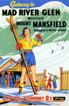 Mad River Glen ski poster www.discoververmontvacations.com