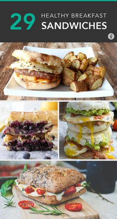 These 27 Breakfast Sandwiches Put Fast Food Options to Shame Need a little pick me up in the morning after a long night? These breakfast sandwich ideas are not only delicious but healthy too! Sandwich Maker Recipes, Breakfast Sandwich Recipes, Healthy Breakfast Recipes, Brunch Recipes, Gourmet Recipes, Cooking Recipes, Healthy Breakfasts, Fast Healthy Meals, Healthy Snacks