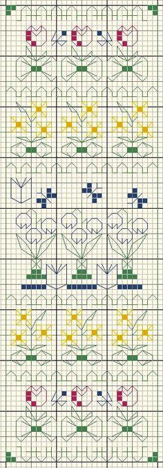 <3 Cross Stitch Borders, Cross Stitch Samplers, Cross Stitch Flowers, Cross Stitch Designs, Cross Stitch Patterns, Crochet Patterns, Motifs Blackwork, Blackwork Embroidery, Cross Stitch Embroidery