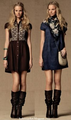 Love the outfit on the right