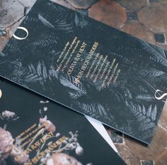 I like the moodiness of this wedding invitation.
