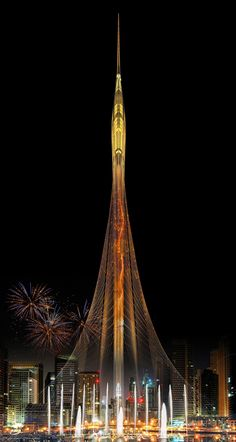New World's Tallest Tower: Santiago Calatrava's Tower at Dubai Creek Harbor                                                                                                                                                                                 More