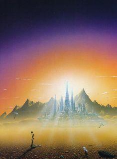 Title: Foundation Author: Isaac Asimov Artist: Tim White July 20 2018 at Sci Fi Fantasy, Fantasy World, Sci Fi City, 70s Sci Fi Art, Isaac Asimov, Sci Fi Books, Science Fiction Art, Environment Concept Art, Fantasy Illustration