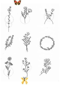 Pin on Kunst -  #Tattoo-Ideen #kleine Tattoos Best Picture For  healthy dinner recipes  For Your Taste You are look -<br> Simple Flower Tattoo, Small Flower Tattoos, Simple Flowers, Flower Tattoo Designs, Small Tattoos, Tattoo Simple, Tattoo Flowers, Drawing Flowers, Mini Tattoos