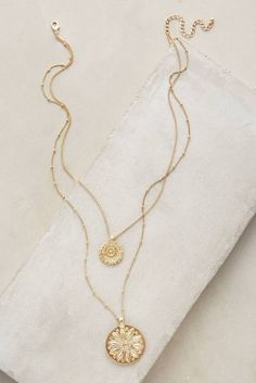 Every jewelry box needs a pretty layered gold necklace. We are loving this dainty gold necklace from Anthropologie available on ShopStyle. Cute Jewelry, Gold Jewelry, Jewelry Box, Jewelry Accessories, Fashion Accessories, Jewelry Necklaces, Fashion Jewelry, Women Jewelry, Style Fashion