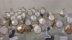 VINTAGE POCKET WATCHES, DEALER 69, PHOENIX AVE AND CASE 81 AT THE BRASS ARMADILLO IN GRAIN VALLEY, MO. SHIPPING IS AVAILABLE FOR AN ADDITIONAL FEE.