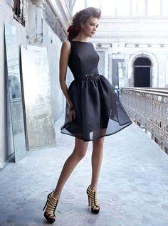 Black Organza Dress by Nior By Lazaro