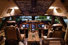 Development of the began in With a new glass cockpit, the crew requirement was reduced from three to two pilots. Boeing 747 Cockpit, Boeing 747 400, Airbus A380, Luxury Jets, Luxury Private Jets, Flight Simulator Cockpit, Glass Cockpit, Northwest Airlines, Aircraft Maintenance
