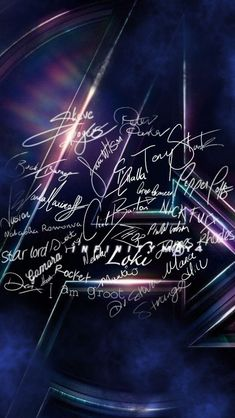Signatures from the Marvel (Infinity War) crew. 8 days til Thanos arrives for the infinity stones.