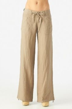Women's 100% linen pants with drawstring waist - Google Search