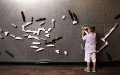 Wand steckbrett gro wandkugelbahn wandgestaltung for Raumgestaltung nach infans