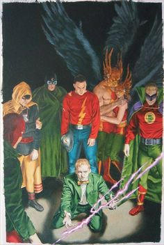 Justice Society of America Art by John Watson